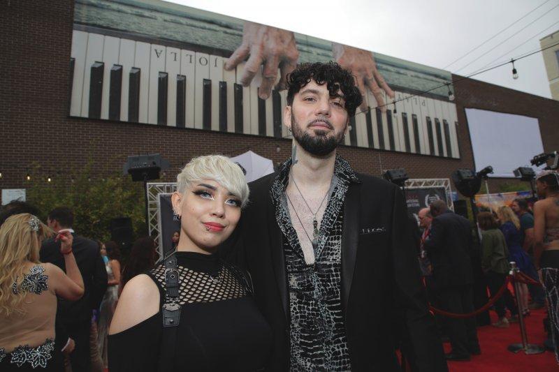 Kitten, left, with Black Metal Romance director Joey Danger