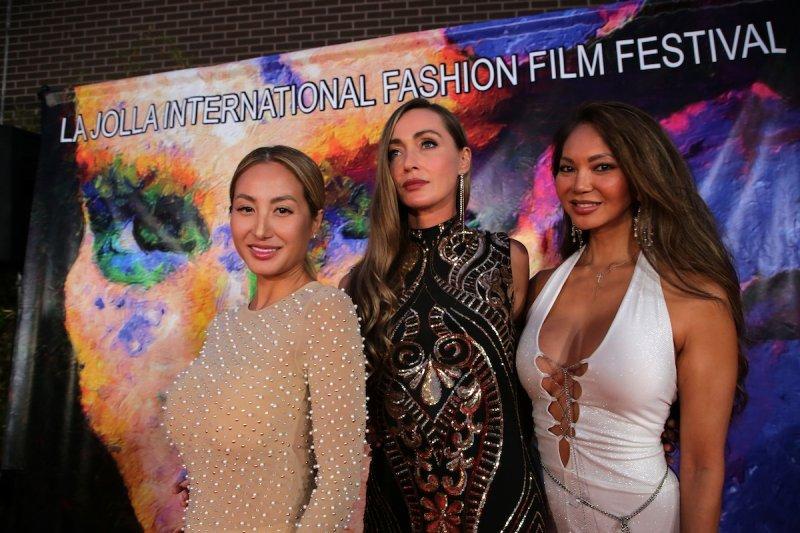 from left, with Sand Dollar Films, Jenifer Pham Tea, Christine Best, and Malia Memackner