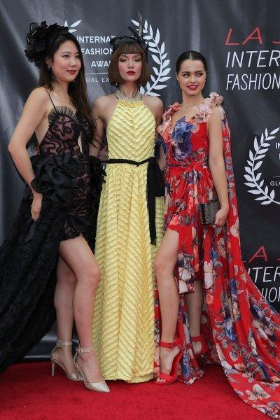 Dresses by designer Nolan Dean