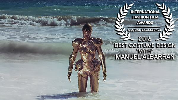 IFFA Award for Best Costume Design 2016 to Manuel Albarran for Myth WEB RES
