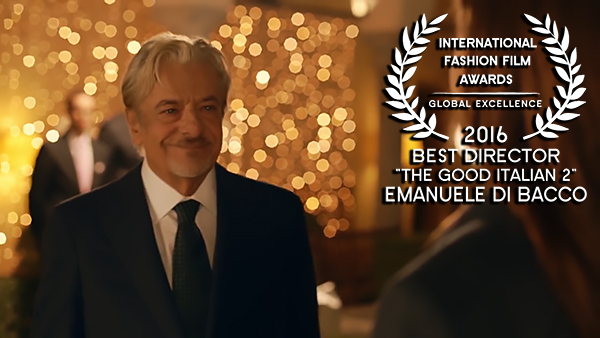 IFFA Award for Best Director 2016 to Emanuele di Bacco for The Good Italian 2 WEB RES