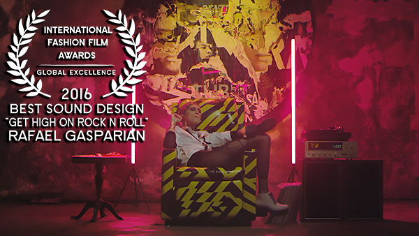 IFFA Award for Best Sound Design 2016 to Rafael Gasparian for Get High On Rock N Roll WEB RES